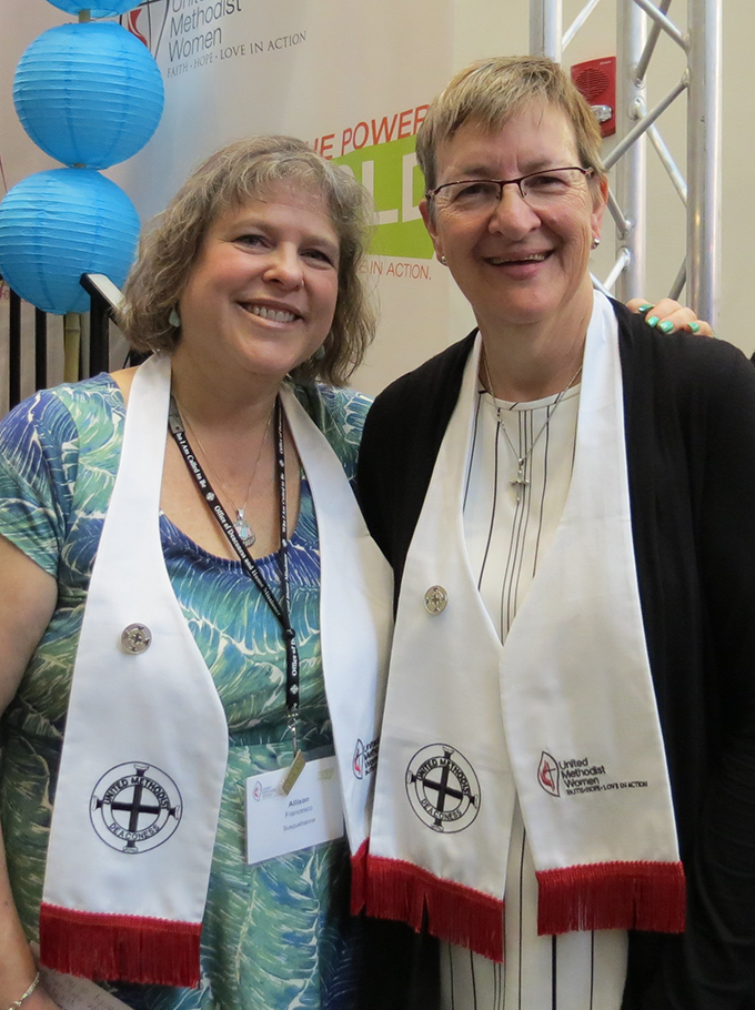 Two United Methodist Women from the Susquehanna Conference were among 24 women who were consecrated as a Deaconess on Friday, May 18, 2018. They were Allison Francesco, Scranton/Wilkes Barre District and Fawn McCallister, York District.   Our congratulations and prayers are with these two women as they embark on a new direction God has called them into.