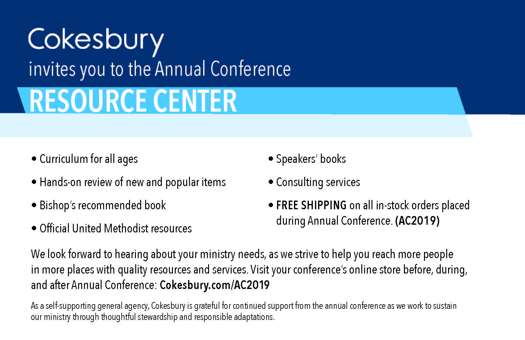 2019-HiRes-AC Cokesbury Ad for Conference Offices
